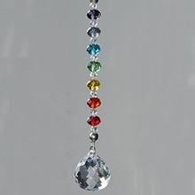 1 шт 20 мм 30 мм 40 мм Хрустальный шар-Призма чакра цвета Rondelle бусины Strand дизайн Радуга Suncatcher рождественские украшения