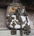 8 шт. различных стилей католической религиозной подарки античная бронзовая позолоченный крест распятие молитвы розария кресты бесплатная доставка