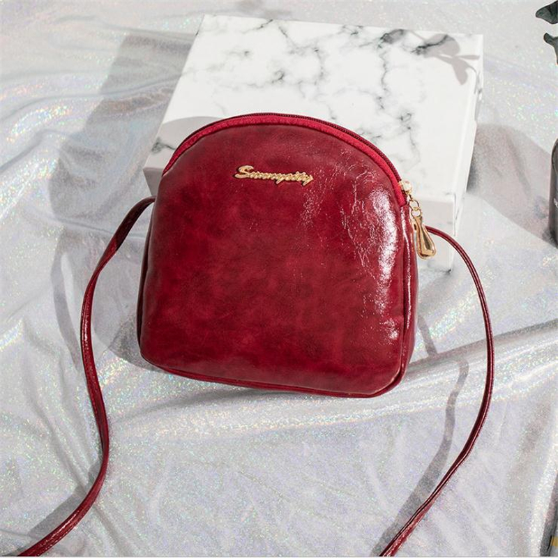 Women Mobile Phone Bag Small Shoulder Messenger Bags For Woman Oil Skin Mini Handbags Square Wax Package Leisure Female Pouches