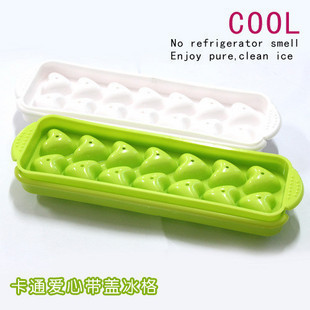 Free Shipping (10pcs/lot) Freeze Ice Cube Tray Mold Maker Heart style ice maker ice resin mould polymer clay molds 14 love