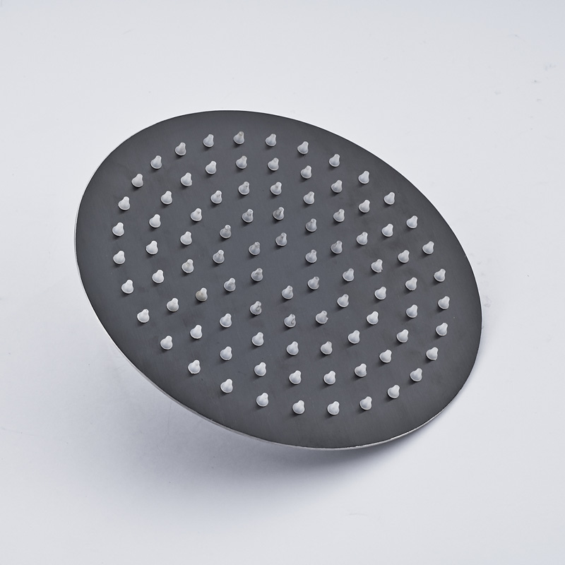 good quality round shaped oil rubbed bronze rainfall shower head for bathroom 8 inches brass material