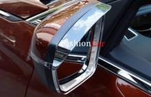 Для Peugeot 3008 GT 2016 2017 2 шт./компл. Chrome Непромокаемые Зеркало Заднего Вида Брови Лезвие Щит Рама