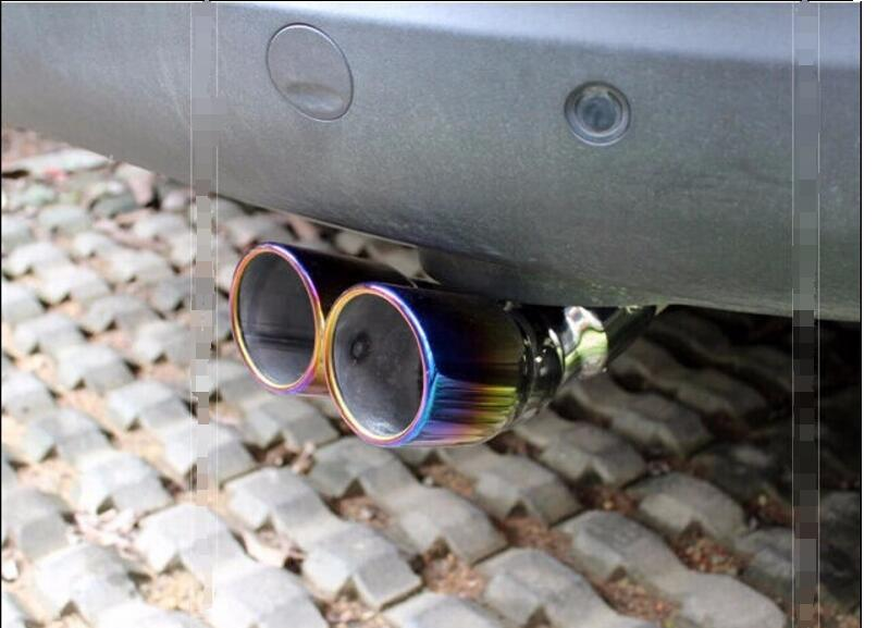 Dual exhaust! For Kia Sportage R 2011 - 2014 Stainless Steel Exhaust Muffler Tip End Pipe rockshox domain dual crown 2014