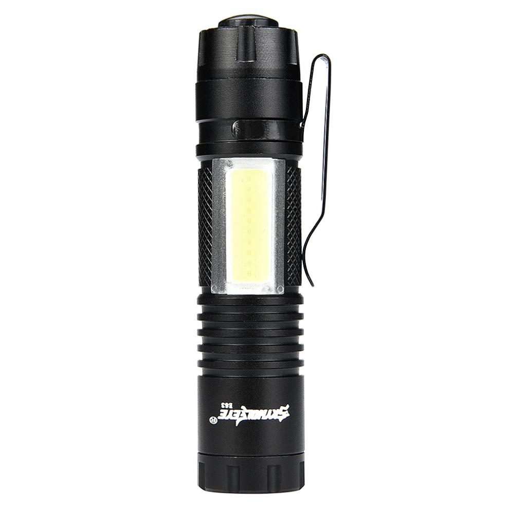 Skywolfeye E63 Zoomable Mini 300LM XPE+COB LED Light with 4 Modes Flash Waterproof Torch Lamp suitable for hiking,night fishing