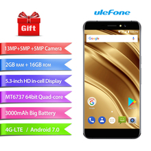 Ulefone S8 Pro smartphone Dual Rear Cameras 5.3″HD 2GB RAM 16GB ROM 13MP/5MP+5MP Rear Touch ID MT6737 Quad Core 4G cell phone