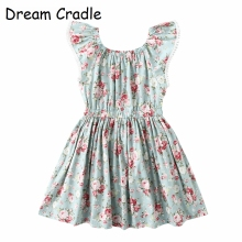 Dream Cradle / Kids Dresses for Girls Cotton Baby Dress Long