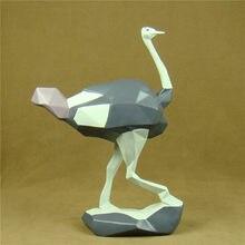Moda Avestruz Estátua Abstrata Geométrica Resina Ornamento Artesanato Mobiliário para Decoração de Casa e Presente do Festival Da Vida Selvagem