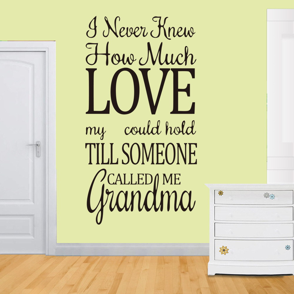 Fashion Quotes Wall Decal Home Family Love Words Wall Sticker for ...