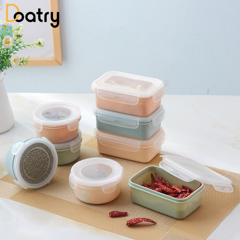 Superbe 1 Pc Round Square Shape LunchBox Food Grade Plastic Food Storage Container  Picnic Storage Box With Microwave Cutlery Set In Dinnerware Sets From Home  ...