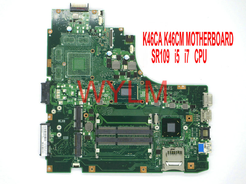 free shipping original K46CA K46CM  motherboard MAIN BOARD mainboard USB 3.0 SR109 1007 SR0N8 I5 i7 CPU 100% Tested цена 2016