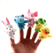 1PC Finger Puppet Plush Toys LeadingStar Cute Cartoon Biological Animal Child Baby Favor Dolls Boys Girls Finger Puppets(China)