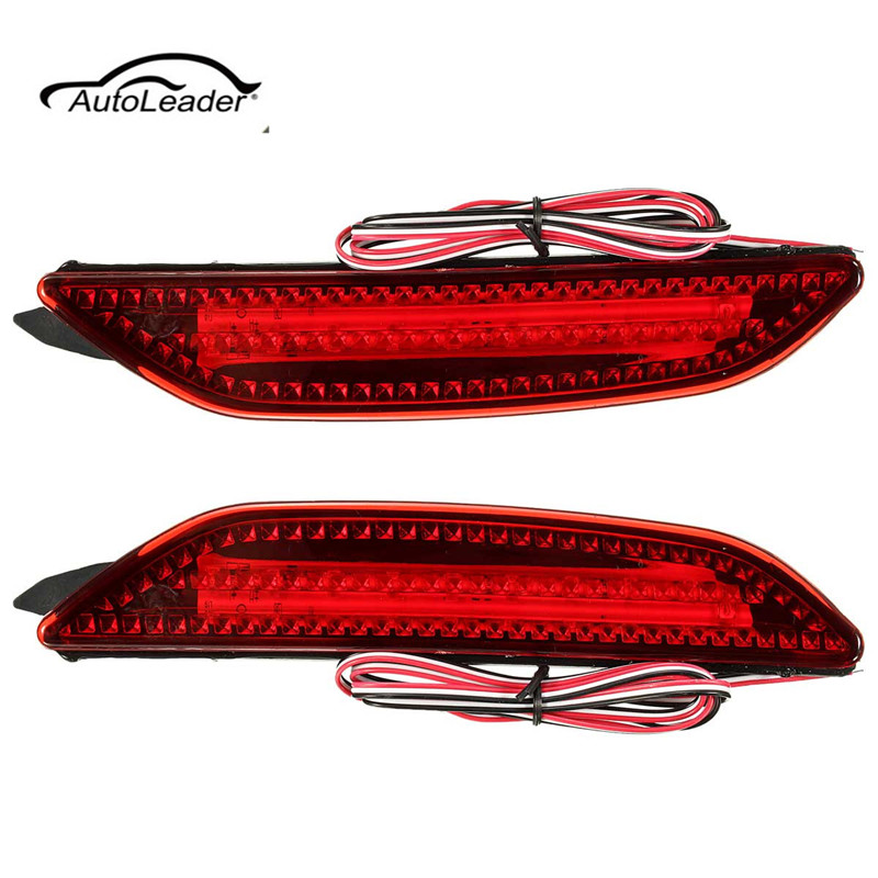 2Pcs 6000K Car LED Warning Lamp Rear Brake Lights Bumper For Kia/Rio K2/Sedan 2011/2012/2013/2014 комплект адаптеров kia rio 2011г sedan