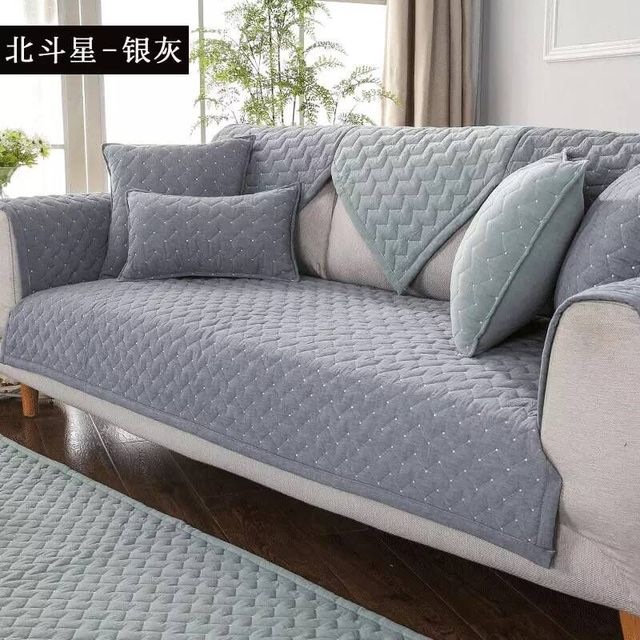US $11.49 45% OFF|100% Cotton Sofa Cover for Living Room Soft Non slip L  Shaped Custom Slipcover Modern High Quality Corner Sofa Covers 1 4 seats-in  ...