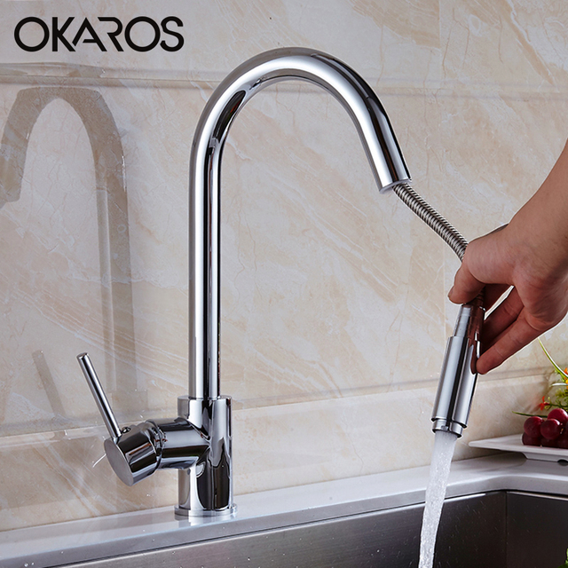 water filter for pull down faucet. OKAROS Kitchen Faucet Sink Chrome Finished Pull Down Cold Hot Water  Filter SaverMixer Tap Removable