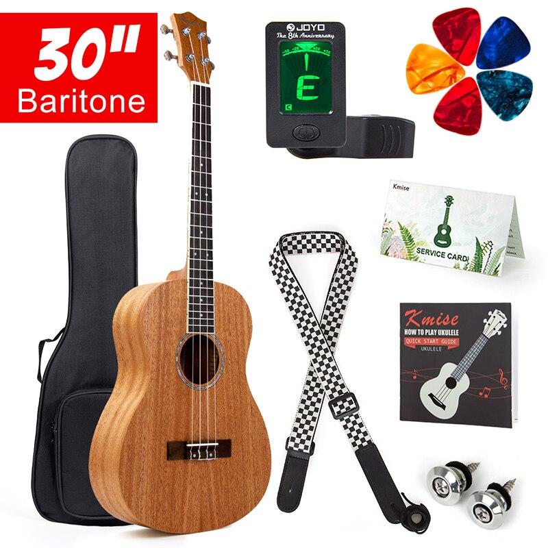купить Kmise Baritone Ukulele 30 Inch Mahogany Ukelele Uke 4 String Hawaii Guitar по цене 3282.24 рублей