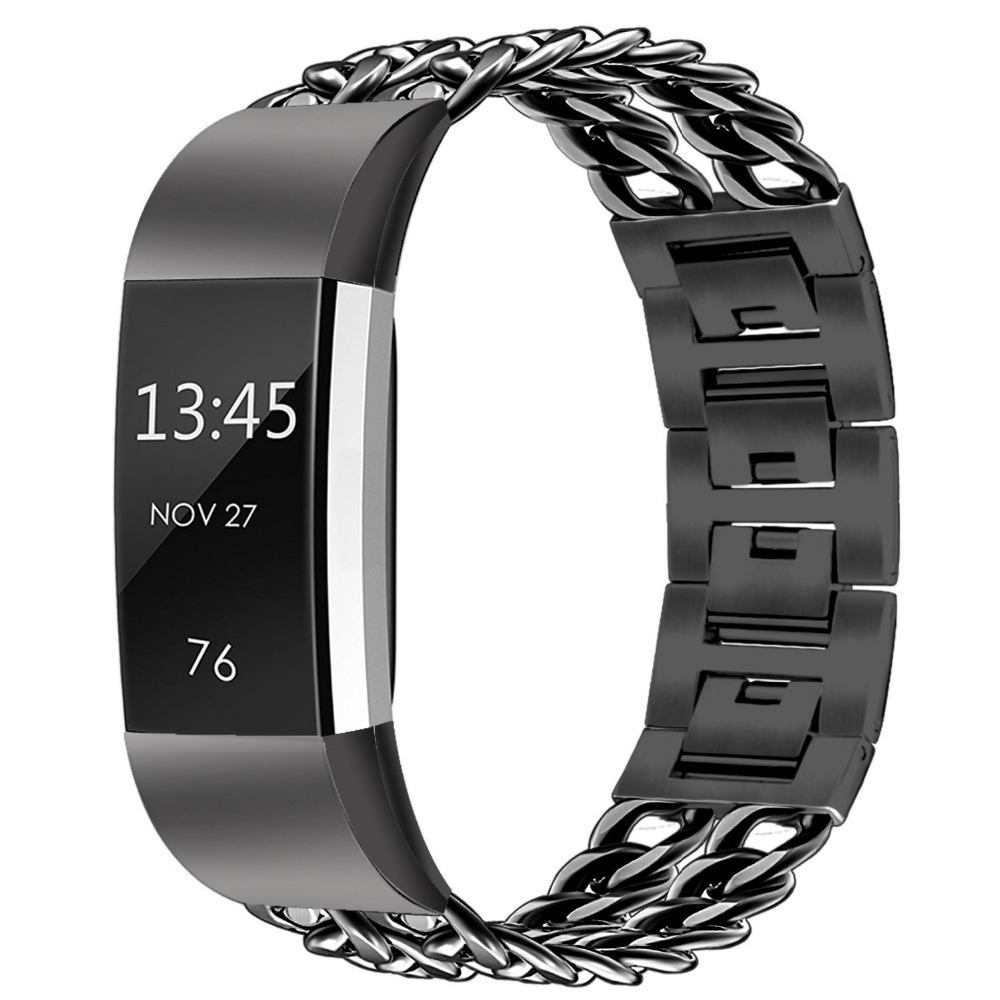 V-Moro for Fitbit Charge 2 band Stainless Steel Replacement Metal Strap with Adaptor For Fitbit Charge 2 Fitness Tracker v moro solid stainless steel metal replacement band with adapters for samsung gear s2 smart watch metal silver