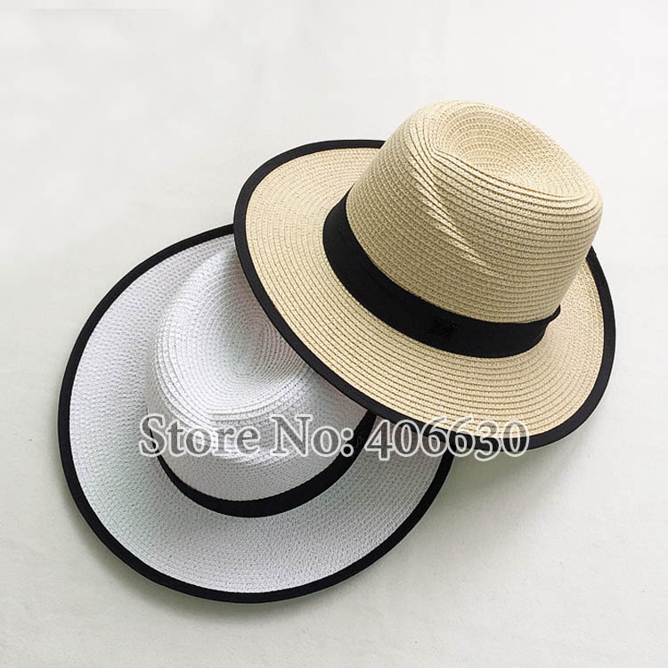 28c8089a6075c Summer Wide Brim White Straw Fedora Hats For Women Fashion Sun Beach Hats  Free Shipping SDDS030-in Sun Hats from Women s Clothing   Accessories on ...