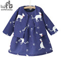 Retail 2-8 years sets full-sleeves printing coat+cartoon dress kids children spring autumn fall