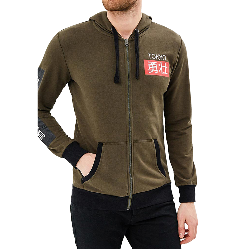 Hoodies & Sweatshirts MODIS M181M00218 men hooded jumper sweater for male TmallFS thermal camouflage cool zip up hoodies for men