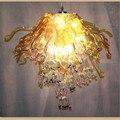 Уникальный Теплый Желтый выдувное стекло люстра освещение искусство цветок лампы