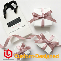 Handmade ribbon bow box Jewelry Packaging & Display famous packaging customized logo