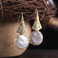 Natural Heterosexual Pearl Vintage High End Long Ear Hook Earrings Wholesale Female Pre Sale
