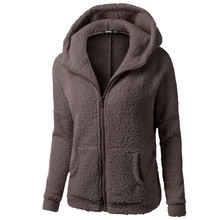 Women Hoodies Sweatshirts Womens Hooded Sweatshirt Coat Winter Warm Wool Cotton Outwear