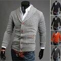 2015 Новое Прибытие Мужская Мода Кардиганы свитер Тонкий V-образным Вырезом согреться Повседневная Одежда MY0013