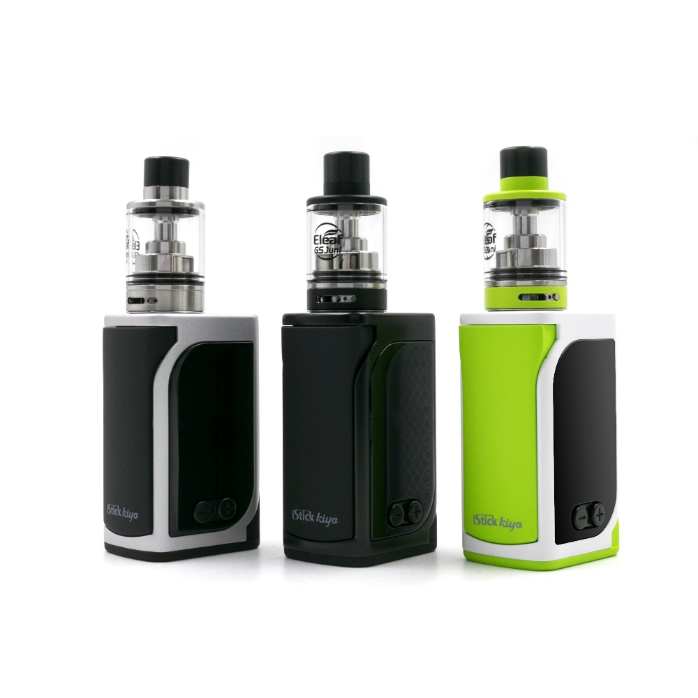Electronic Cigarette Vape Eleaf IStick Kiya with GS Juni TC Kit 50W Box mod 1600mAh Battery 2ml GS Juni Atomizer vs istick pico цена 2017