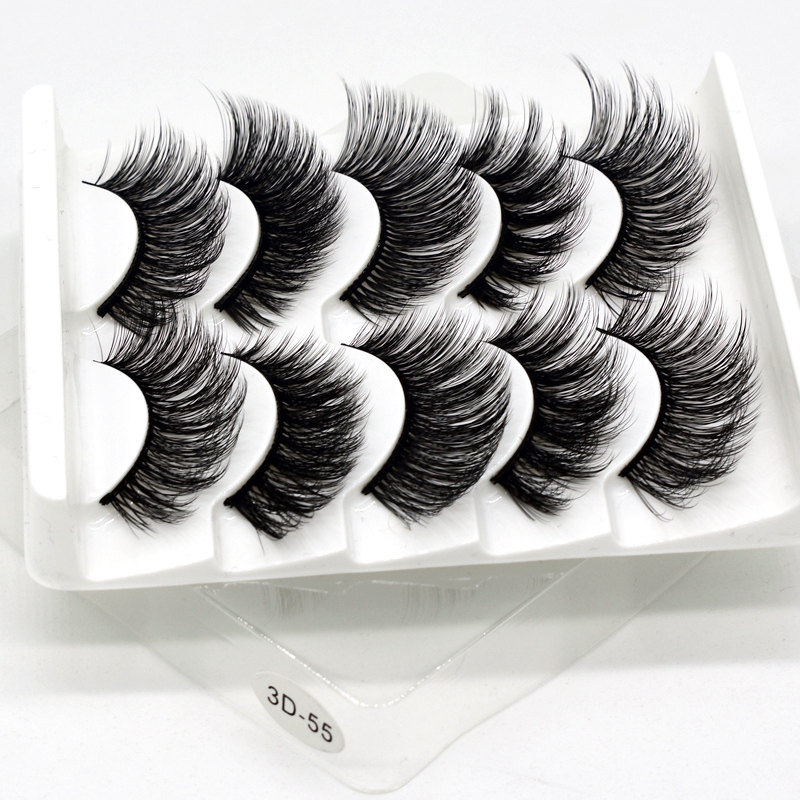 Image 5 - SEXYSHEEP 5Pairs 3D Faux Mink eyelashes False Eyelashes Long Lashes Wispy Makeup Beauty Extension Tools Wimpers 13 Styles-in False Eyelashes from Beauty & Health