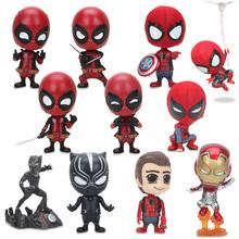 Deadpool Spider-man czarna pantera Bobble Head Shaking PVC kolekcja figurek Model lalka dla dzieci zabawki prezenty tanie tanio five nights at freddy s Zachodnia animiation Żołnierz gotowy produkt 12-15 lat 8 lat 6 lat Dorośli 14 lat Urządzeń peryferyjnych