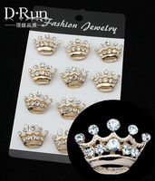 Mini Crown Brooch Scarf Pin Clip Brand For Women Fashion Butterfly Animal Jewelry For Invitation