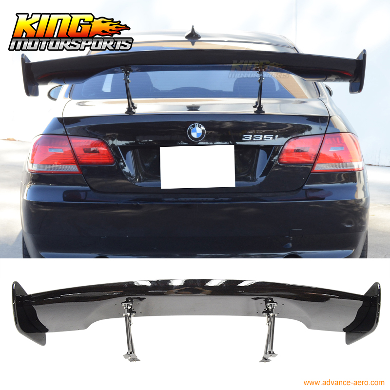 Adjustable Universal Honda Toyota Rear Trunk Spoiler GT Wing 57 Inch 150Cm Glossy Black ABS US Domestic Free Shipping