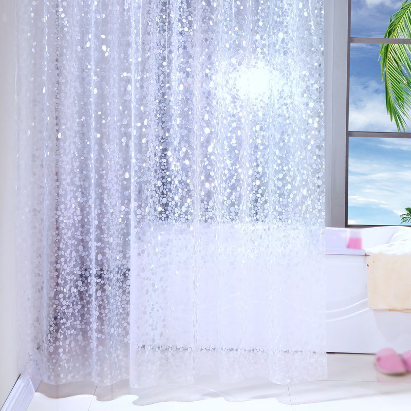 Modern Style PEVA Bathroom Curtains Waterproof Bath Shower Curtain Products with Hooks Home Decoration