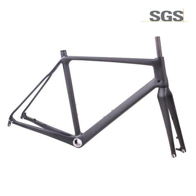 Carbon Di2 Bike Cyclocross Frame standard QR thru axle Disc brake Bicycle Road Frameset 51 5cm