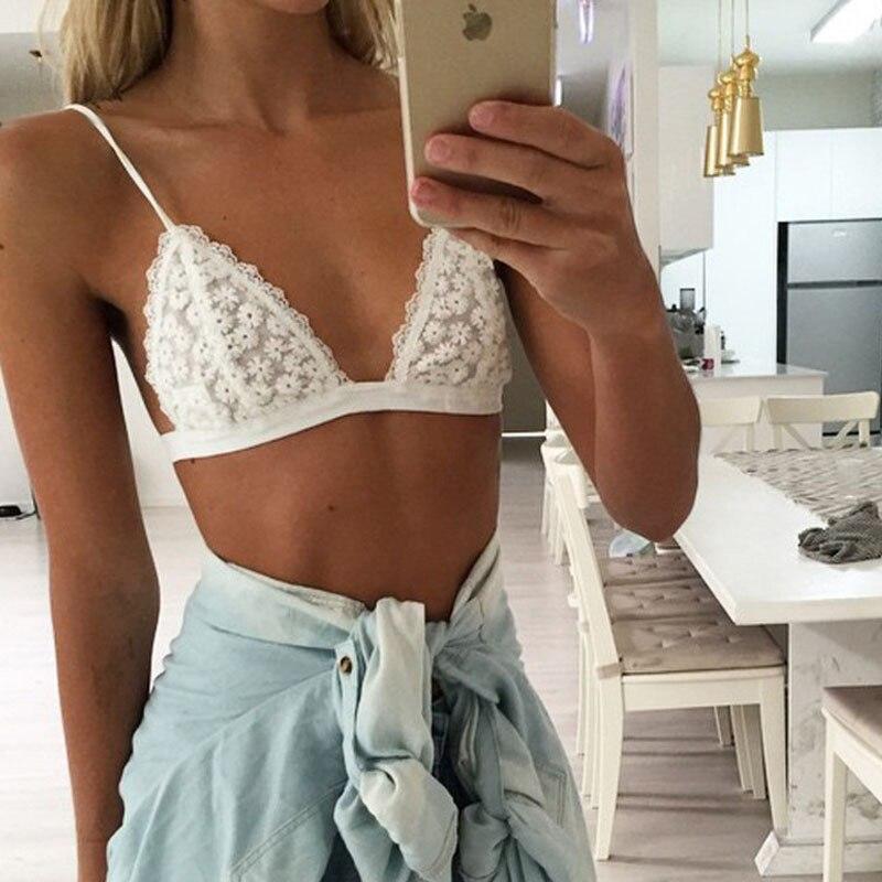 2017 Deep v Summer lingerie Harness Perspective sexy women underwear Flower pattern Lace side double shoulder strap bra