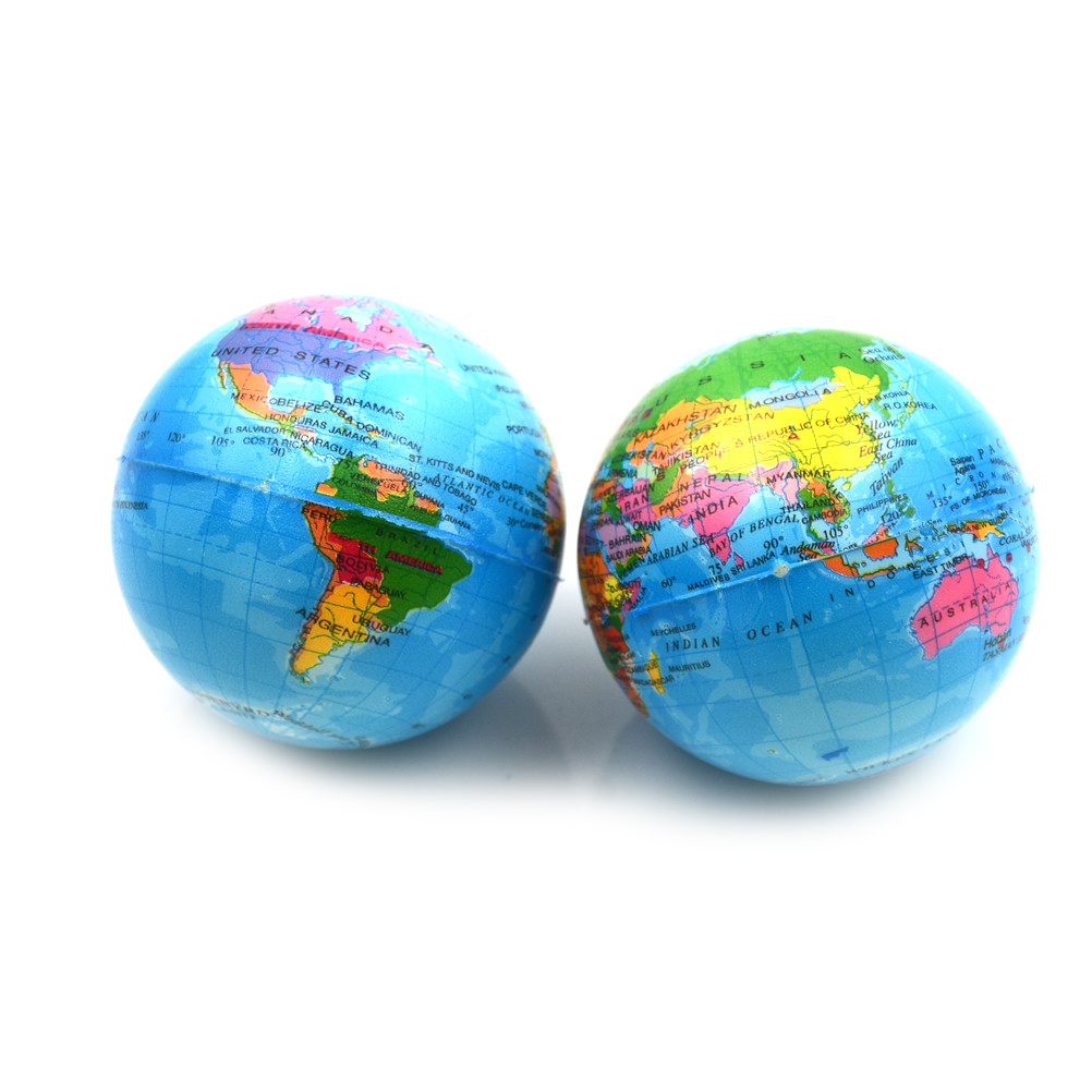 New Squishies Slow Rising World Map Foam Ball Squish Antistress Toy Planet Earth Ball