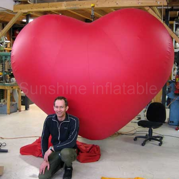 Custom made wedding valentine decoration item large inflatable red heart saleCustom made wedding valentine decoration item large inflatable red heart sale