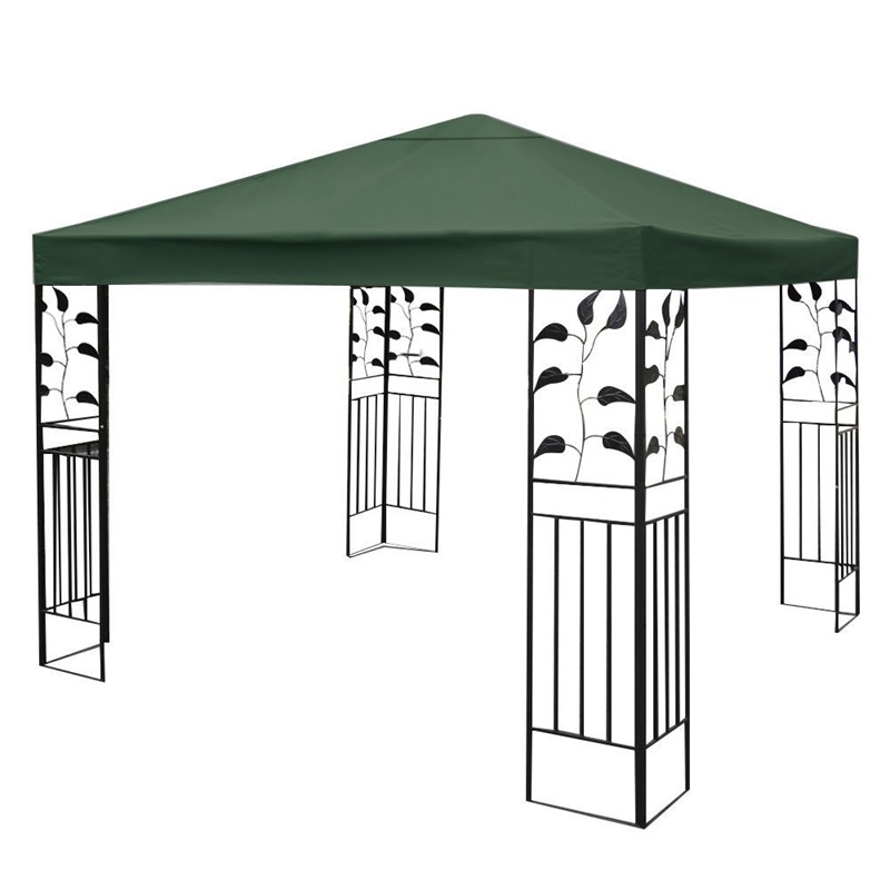 10' X 10'  1-Tier Canvas Yard Tent Canopy Top Roof Cover Patio Sun Shade Cloth Shade Accessories Replacement Garden Supplier