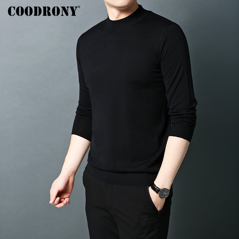 Image 2 - COODRONY Brand Sweater Men Autumn Winter Turtleneck Wool Sweaters  Classic Pure Color Pullover Men Warm Knitwear Pull Homme  91066Pullovers