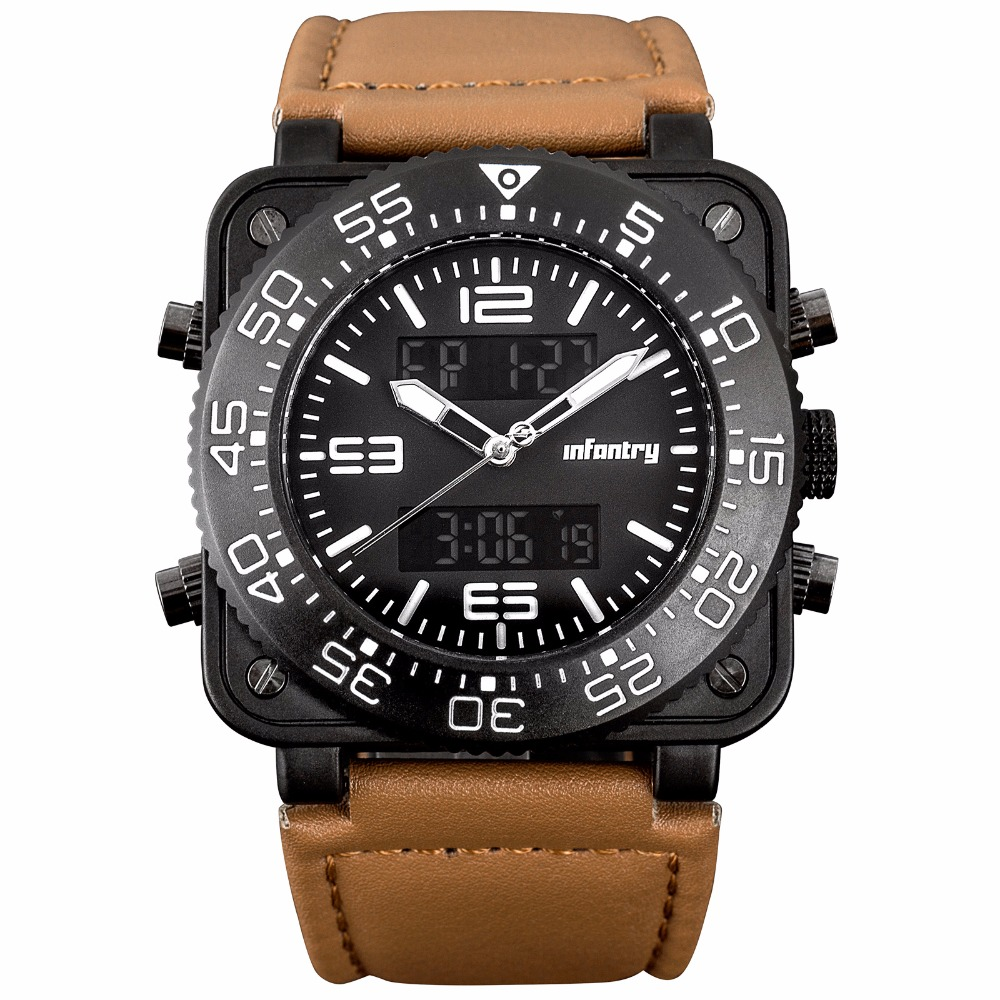 INFANTRY Men Sports Watches Military Nylon Strap Quartz Digital - Herrklockor - Foto 2