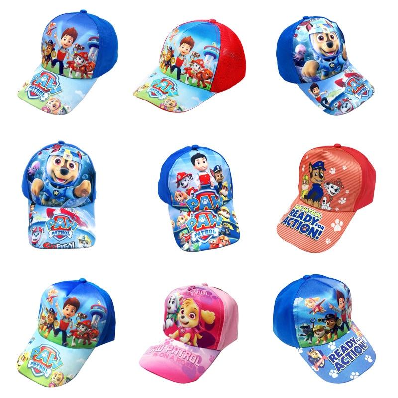 Paw Patrol Chase Skye Flat Hip Hop Snapback Cap Kids Fashion Sun Hat Children Toy Birthday Christmas Gift 2019 Spring
