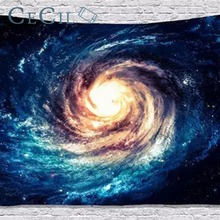 купить Milky Way Galaxy Star Tapestry Wall Hanging Tapestry Bedroom Living Room Decorative Painting Background Beach Towel по цене 1677.78 рублей