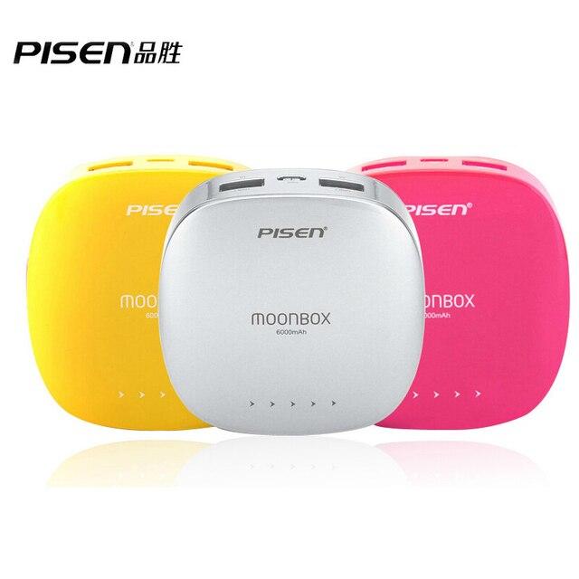 Pisen MoonBox мобильный зарядное устройство портативное зарядное устройство 6000 мАч внешний аккумулятор двойной 2A / 1A для Apple , android-мобильных таблетки цвет