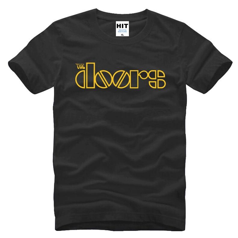 Rock The Doors Men T Shirts Casual Cotton Men JIM MORRISON T-shirts Summer Short