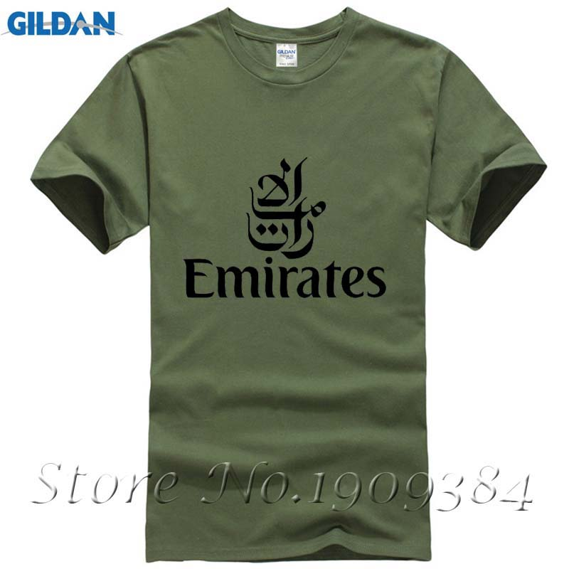 AIRWAYS EMIRATES Airlines flight men short sleeve T-shirt new arrival Fashion Brand t shirt for men summer