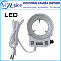 Adjustable 6500K 144 LED Ring Light illuminator Lamp For Industry Stereo Microscope Lens Camera Magnifier 110V-240V Adapter