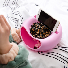 Creative Melon Seeds Nut Bowl Table Candy Snacks Dry Fruit Storage Box Plate Dish Tray Mobile Phone Holder