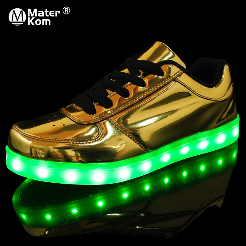 Size 35-44 Adult Unisex Womens&Mens USB LED Light Up Shoes With Light LED Slippers Krasovki Luminous Lighted Luminous Shoes