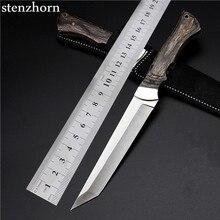 Stenzhorn Новый Ограниченной Navajas Открытый самооборона Диких Небольшой Прямой Для Выживания Пустыне Фруктов Качество Хорошее Стальной Нож